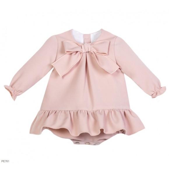 2becc0509a64b Pelele bebé niña de Eve Children rosa empolvado