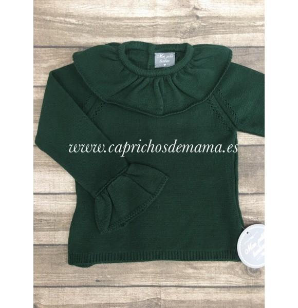 99d625586 Jersey niña de Mon Petit verde botella