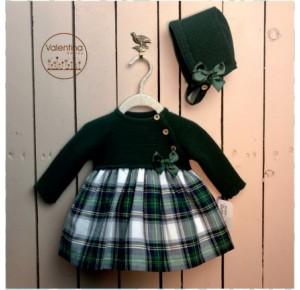 Vestido bebé niña de Valentina Bebés punto verde
