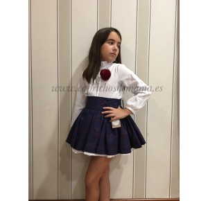 Blusa y falda niña Minuetto de Noma Fernández