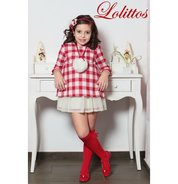 Vestido niña Caperucita  Lolittos recto 2 en 1
