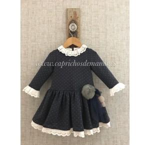 Vestido niña de Lapeppa sudadera marino
