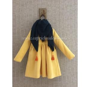 Vestido niña de Mía y Lía micropana amarillo