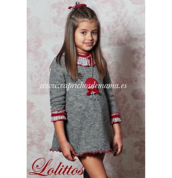 Vestido niña Soldadito de Plomo de Lolittos punto