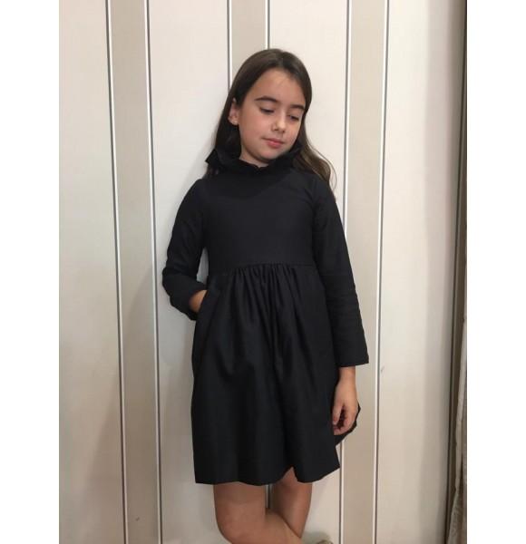 Vestido niña de Mía y Lía negro y dorado