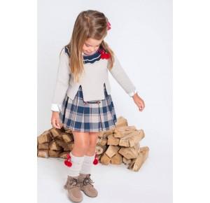 Conjunto falda y jersey niña College de Kauli