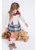 Vestido niña College de Kauli camisero