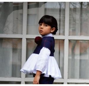 Blusón y casaca niña Minuetto de Noma Fernández