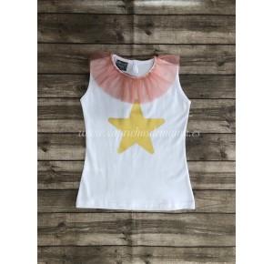 Camiseta niña estrella de Mon Petit