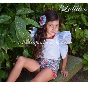 Camisa y short niña Frambuesa de Lolittos