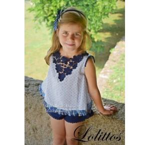 Blusón y short niña Juanola de Lolittos