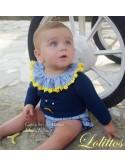 Jubón y rana bebé Limonchelo de Lolittos