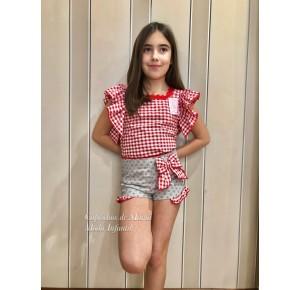Camisa y short niña Sirope de Lolittos