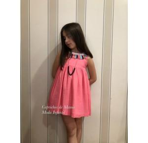 Vestido niña de Mon Petit cuello borlas