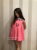 Vestido niña de Mon Petit fucsia borlas