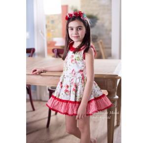 Vestido niña de Nini estampado flores
