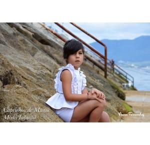 Camisa y short niña Colette de Noma Fernández