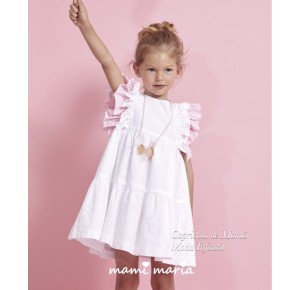 Vestido niña Sugar de Mami Maria blanco
