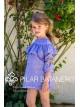 Vestido niña de Pilar Batanero lino azul