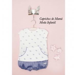 Conjunto bebé niño de Pilar Batanero cebras
