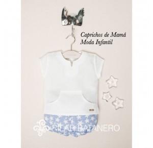 Conjunto bebé niño de Pilar Batanero estrellas