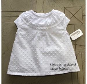 Camisa bebé niña de Valentina Bebés plumeti