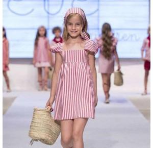 Vestido niña Carmesí de Eve Children a rayas