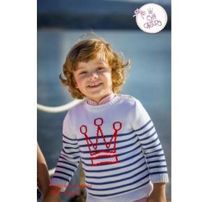 Jersey niño Bibi de Eva Castro a rayas
