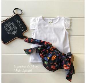 Camiseta niña de Baby Yiro blanca