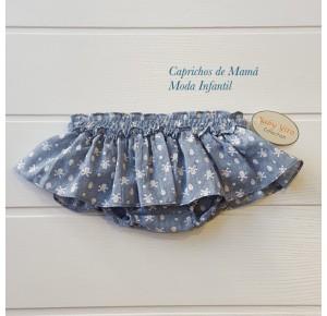 Braguita bebé niña de Baby Yiro azul calaveras