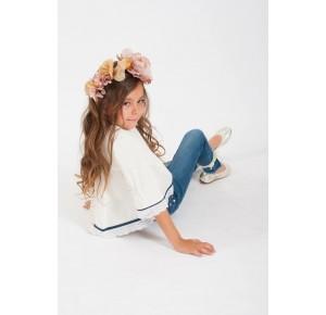 Camisa niña Young & Chic de Kauli manga francesa