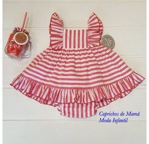Jesusito bebé niña de Mon Petit rayas rojas