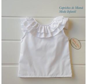 Camisa niña de Baby Yiro volantes cuello