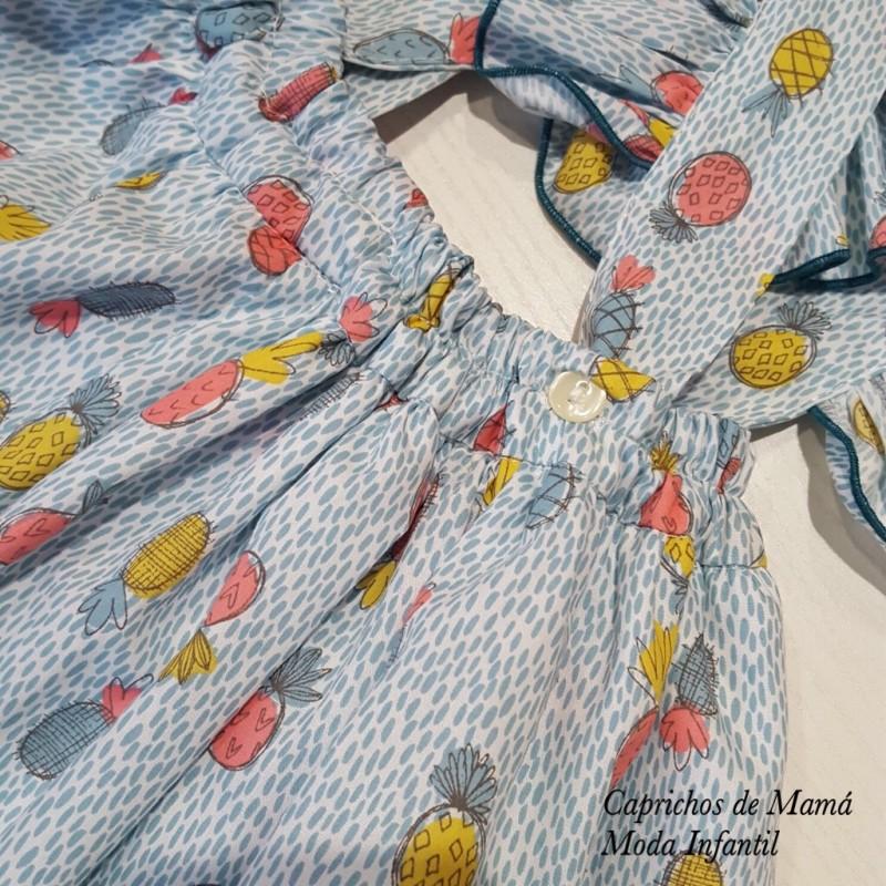 b918405f1 ... Camiseta y falda tirantes niña de Mon Petit piñas ...