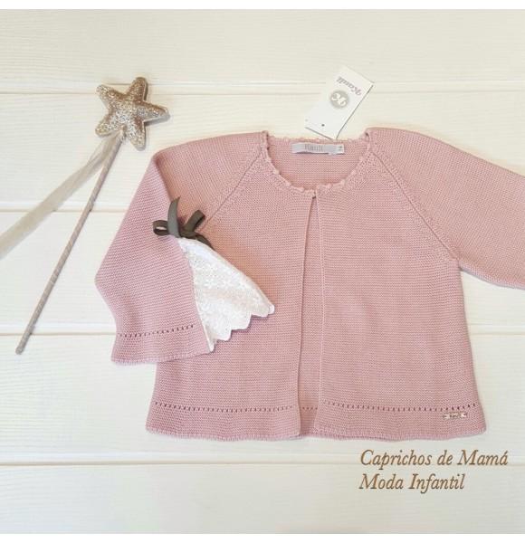 18601f72c Chaqueta niña Trendy de Kauli punto rosa | Ropa Infantil