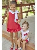 Vestido niña Chili de Dadati rojo corazones