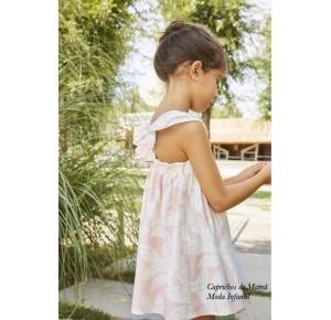 Vestido niña Pluma de Dadati rosa