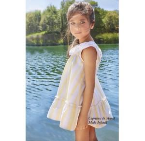 Vestido niña Maracuya de Dadati rayas amarillas