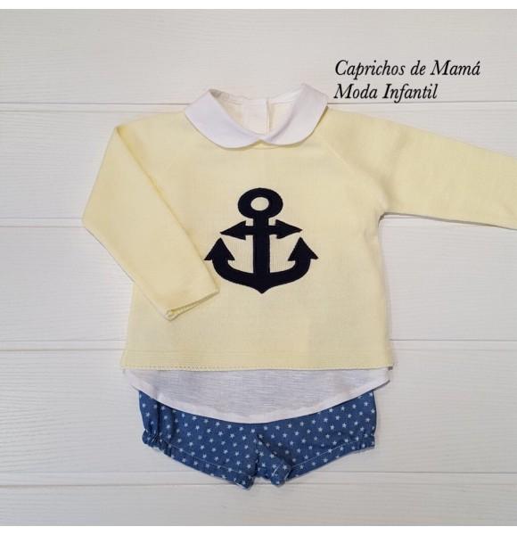 541e79322de Conjunto bebé niño de Valentina Bebés estrellas