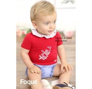 Conjunto bombacho bebé niño de Foque rojo