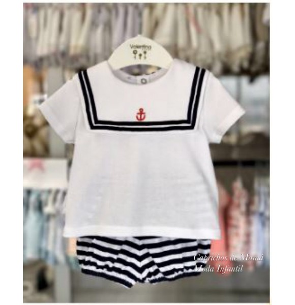 Conjunto bebé niño de Valentina Bebés navy