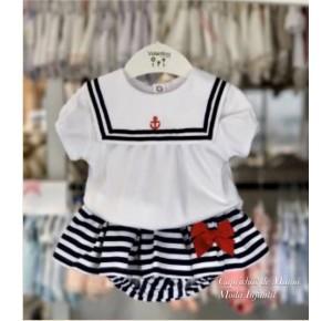 Conjunto bebé niña de Valentina Bebés navy