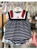 Conjunto pichy bebé niña de Valentina Bebés navy