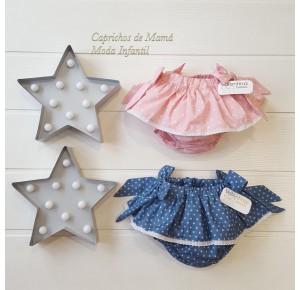 Braguita bebé niña de Valentina Bebés rosa estrellas