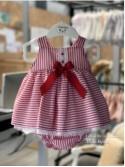 Jesusito bebé niña de Valentina Bebés rayas rojo