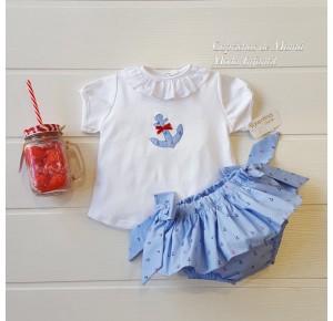 Conjunto bebé niña de Valentina Bebés ancla