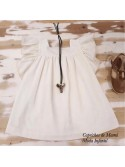 Vestido niña de Mía y Lía blanco volantes