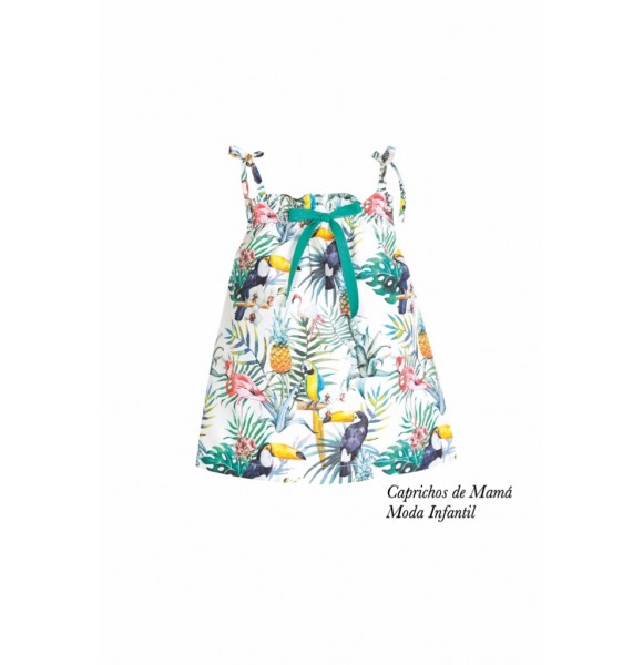 Vestido niña de Eve Children estampado tropical