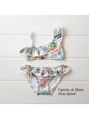 Bikini niña de Eve Children estampado tropical