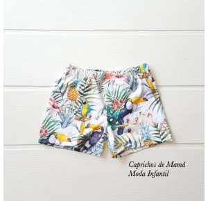Bóxer niño de Eve Children estampado tropical